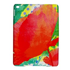 Lovely Red Poppy And Blue Dots Ipad Air 2 Hardshell Cases