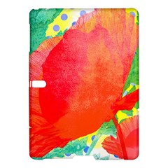 Lovely Red Poppy And Blue Dots Samsung Galaxy Tab S (10 5 ) Hardshell Case
