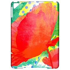 Lovely Red Poppy And Blue Dots Apple Ipad Pro 9 7   Hardshell Case by DanaeStudio