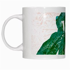 Pachira Leaves  White Mugs by DanaeStudio