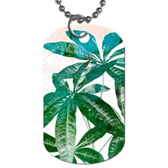 Pachira Leaves  Dog Tag (one Side) by DanaeStudio