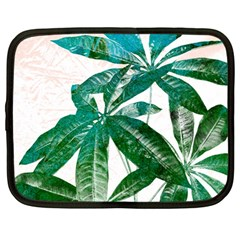 Pachira Leaves  Netbook Case (large) by DanaeStudio