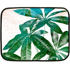 Pachira Leaves  Double Sided Fleece Blanket (mini)