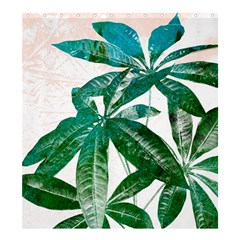 Pachira Leaves  Shower Curtain 66  X 72  (large)