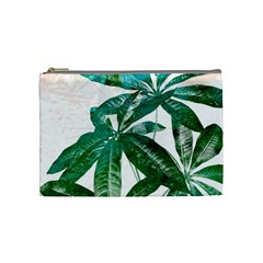 Pachira Leaves  Cosmetic Bag (medium)  by DanaeStudio