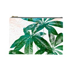 Pachira Leaves  Cosmetic Bag (large)