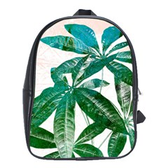Pachira Leaves  School Bags(large)  by DanaeStudio