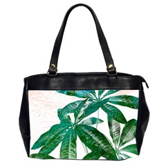 Pachira Leaves  Office Handbags (2 Sides)  by DanaeStudio
