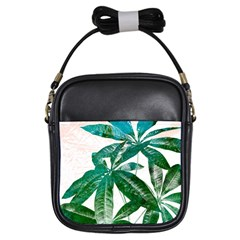 Pachira Leaves  Girls Sling Bags by DanaeStudio