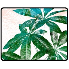 Pachira Leaves  Fleece Blanket (medium)