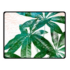 Pachira Leaves  Fleece Blanket (small) by DanaeStudio
