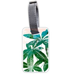 Pachira Leaves  Luggage Tags (one Side)  by DanaeStudio