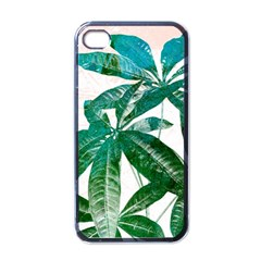 Pachira Leaves  Apple Iphone 4 Case (black)