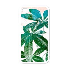 Pachira Leaves  Apple Iphone 4 Case (white)