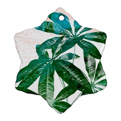 Pachira Leaves  Snowflake Ornament (2 Side)