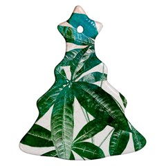 Pachira Leaves  Christmas Tree Ornament (2 Sides)