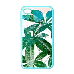 Pachira Leaves  Apple Iphone 4 Case (color) by DanaeStudio