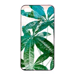 Pachira Leaves  Apple Iphone 4/4s Seamless Case (black)