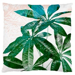 Pachira Leaves  Large Cushion Case (one Side)