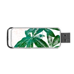 Pachira Leaves  Portable Usb Flash (two Sides)