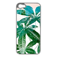 Pachira Leaves  Apple Iphone 5 Case (silver)