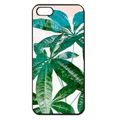 Pachira Leaves  Apple Iphone 5 Seamless Case (black)