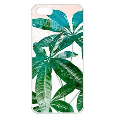 Pachira Leaves  Apple Iphone 5 Seamless Case (white)