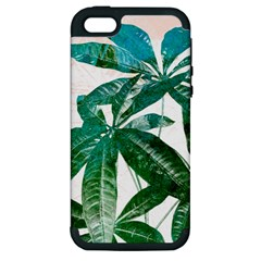 Pachira Leaves  Apple Iphone 5 Hardshell Case (pc+silicone)