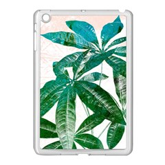 Pachira Leaves  Apple Ipad Mini Case (white)
