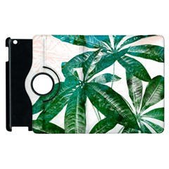 Pachira Leaves  Apple Ipad 2 Flip 360 Case