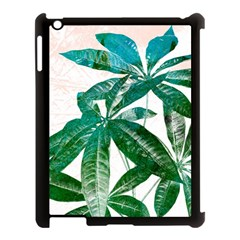 Pachira Leaves  Apple Ipad 3/4 Case (black) by DanaeStudio