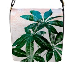 Pachira Leaves  Flap Messenger Bag (l)