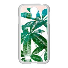 Pachira Leaves  Samsung Galaxy S4 I9500/ I9505 Case (white)