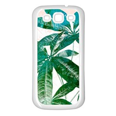 Pachira Leaves  Samsung Galaxy S3 Back Case (white) by DanaeStudio