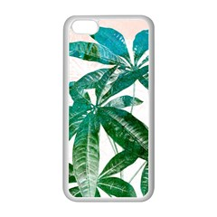 Pachira Leaves  Apple Iphone 5c Seamless Case (white)