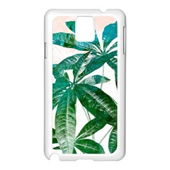 Pachira Leaves  Samsung Galaxy Note 3 N9005 Case (white)