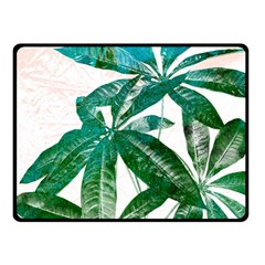 Pachira Leaves  Double Sided Fleece Blanket (small)