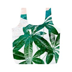 Pachira Leaves  Full Print Recycle Bags (m)