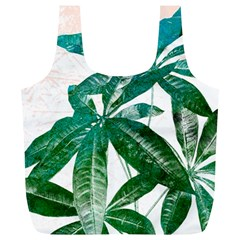 Pachira Leaves  Full Print Recycle Bags (l)