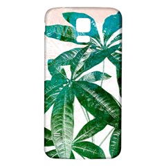 Pachira Leaves  Samsung Galaxy S5 Back Case (white)