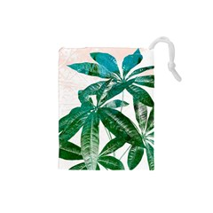 Pachira Leaves  Drawstring Pouches (small)