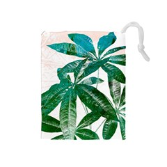 Pachira Leaves  Drawstring Pouches (medium)