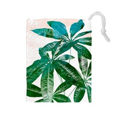 Pachira Leaves  Drawstring Pouches (large)