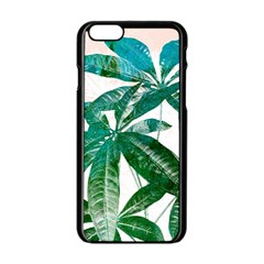 Pachira Leaves  Apple Iphone 6/6s Black Enamel Case by DanaeStudio