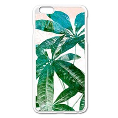 Pachira Leaves  Apple Iphone 6 Plus/6s Plus Enamel White Case