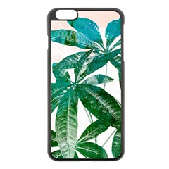Pachira Leaves  Apple Iphone 6 Plus/6s Plus Black Enamel Case