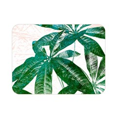 Pachira Leaves  Double Sided Flano Blanket (mini)