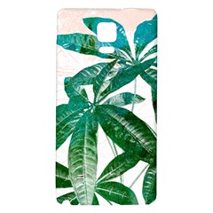 Pachira Leaves  Galaxy Note 4 Back Case by DanaeStudio
