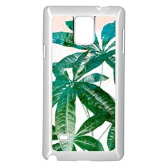 Pachira Leaves  Samsung Galaxy Note 4 Case (white)