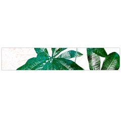 Pachira Leaves  Flano Scarf (large)